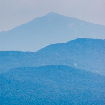 Distant view of Whiteface Mountain