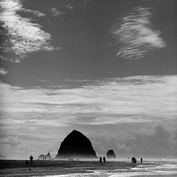 Cannon Beach in B&W