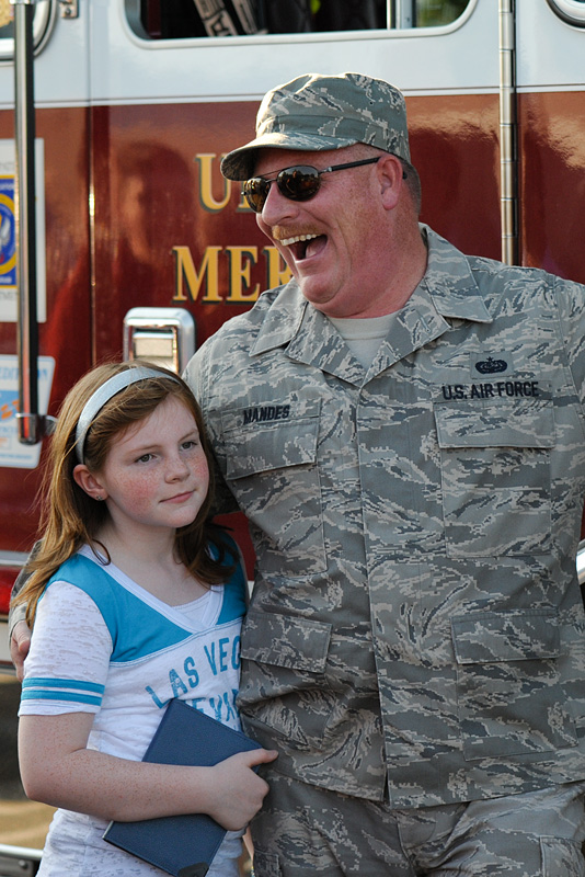 Welcome Home TSgt. Michael Mandes, Air National Guard