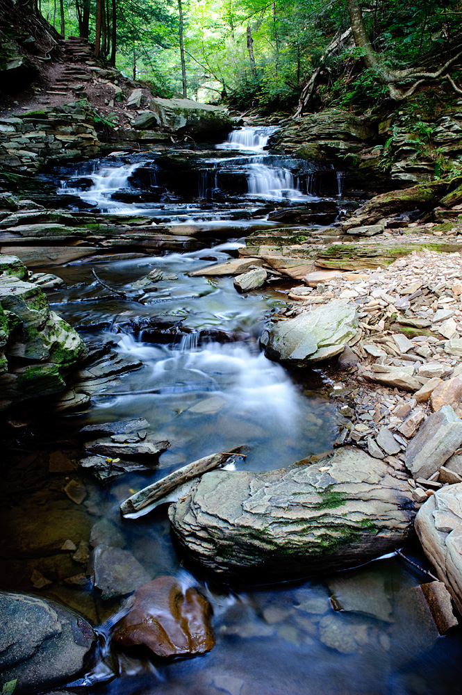 Waterfalls At Ricketts Glen