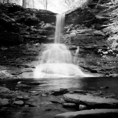 Sheldon Reynolds Falls, 36 feet (Infrared)