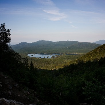Looking back at Elk Lake from the Macomb Slide