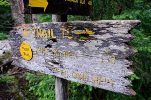 Sign to Lake Colden