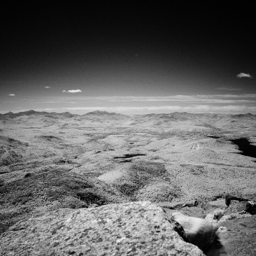 Looking south from Whiteface (infrared)