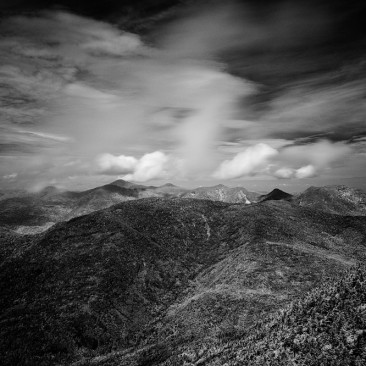 The Great Range from Dix Mountain (infrared)