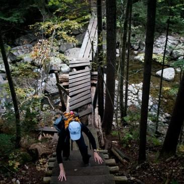 We rock-hopped around this bridge