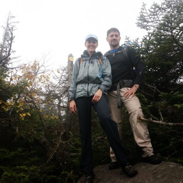 Atop Santanoni Peak