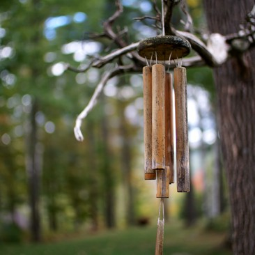 Wind chime at Random Scoots cabin, Keene NY