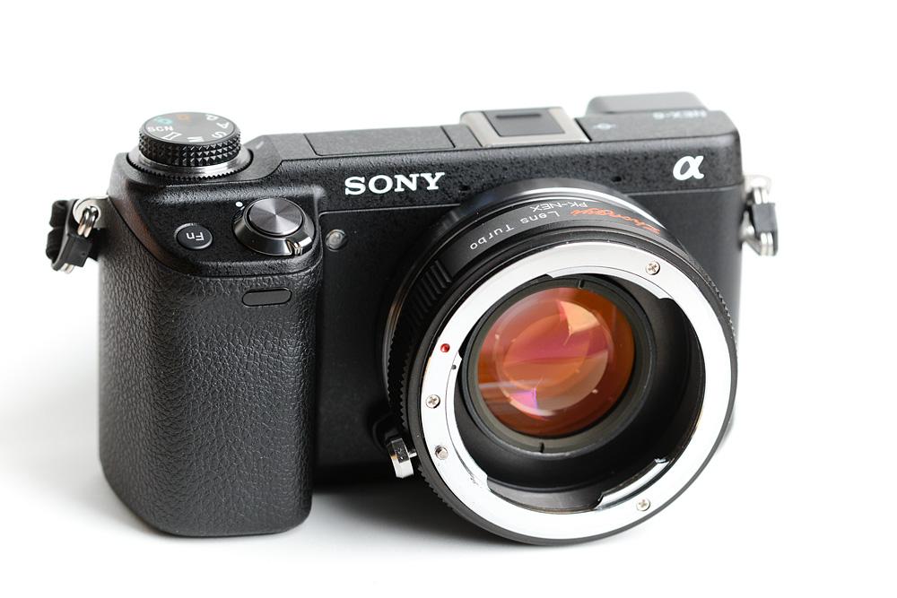 Sony NEX-6 with Lens Turbo for Pentax PK lenses