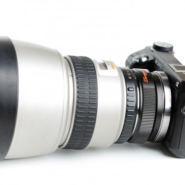 The Lens Turbo can make some odd combinations, here with the SMC Pentax-FA* 85mm f/1.4 lens.