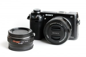 Sony NEX-6 with 16-50 3.5-5.6 OSS lens and Lens Turbo