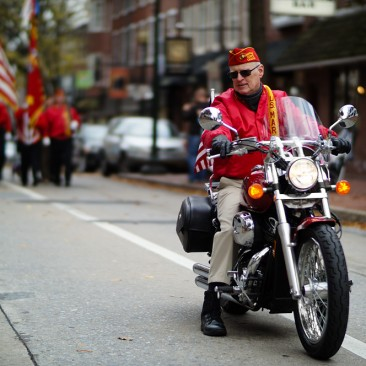 Mayor Tom Chambers leads the West Chester Veterans Day Parade