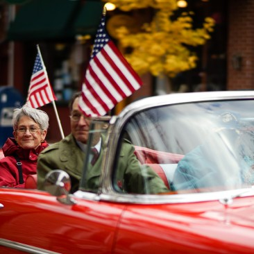 At the West Chester Veterans Day Parade