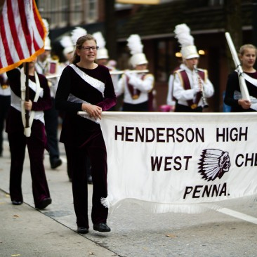 Henderson High School Band at the West Chester Veterans Day Parade
