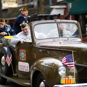 At the West Chester Veterans Day ParadeVFW Members At the West Chester Veterans Day Parade