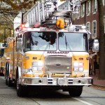 Fire Department Trucks at the West Chester Veterans Day Parade