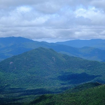 Looking west towards Mt. Adams, the Santanonis and Sewards