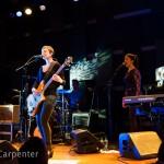 Philadelphia, PA: Pomplamoose open their show at World Cafe Live, Friday September 26, 2014.