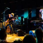 Philadelphia, PA: Pomplamoose give Jack a hit at the Pomplamoose show at World Cafe Live, Friday September 26, 2014.