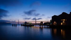 San Francisco Bay Bridge Pre-Sunrise