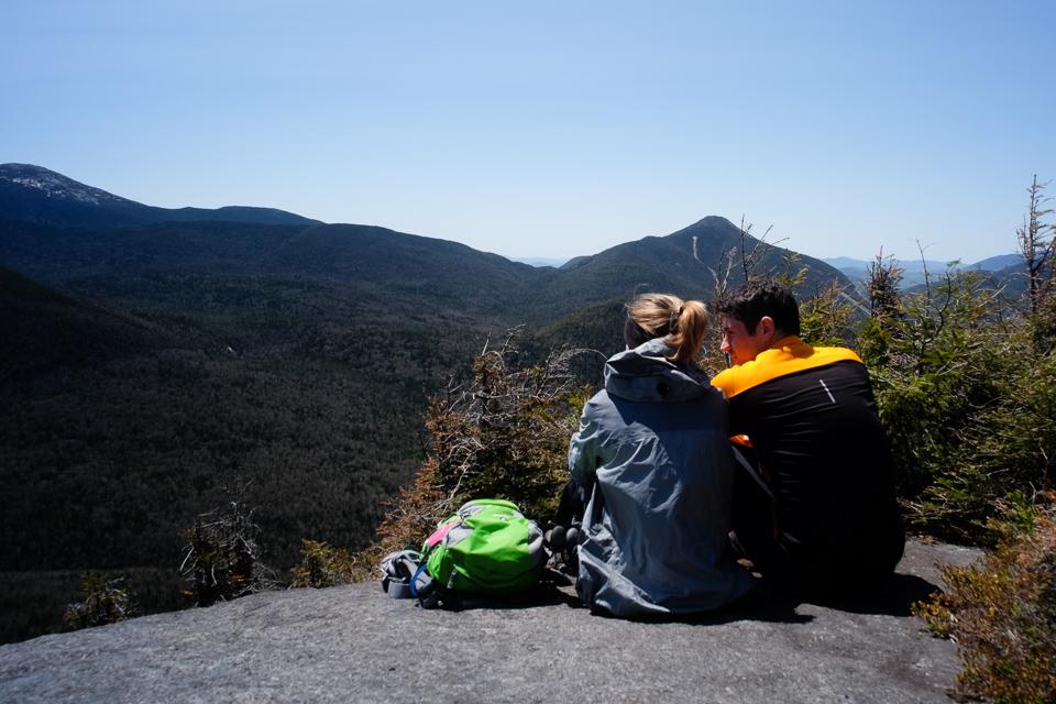 Enjoying a quiet ledge on Phelps Mountain