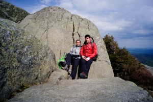 Kathy and Me sheltered on Wright Peak
