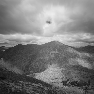 View of the MacIntyres from Mt. Colden (infrared)