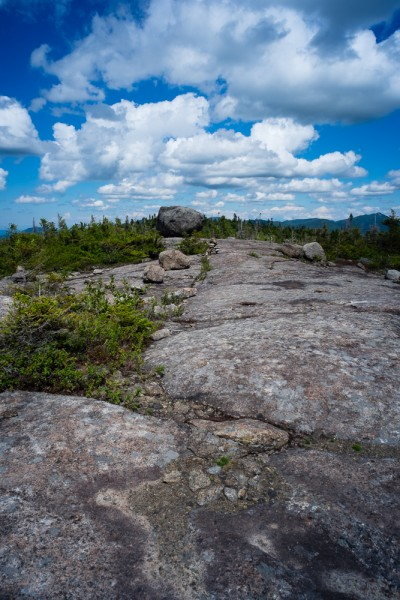 Summit of Blueberry Mountain, Adirondack Park New York USA.