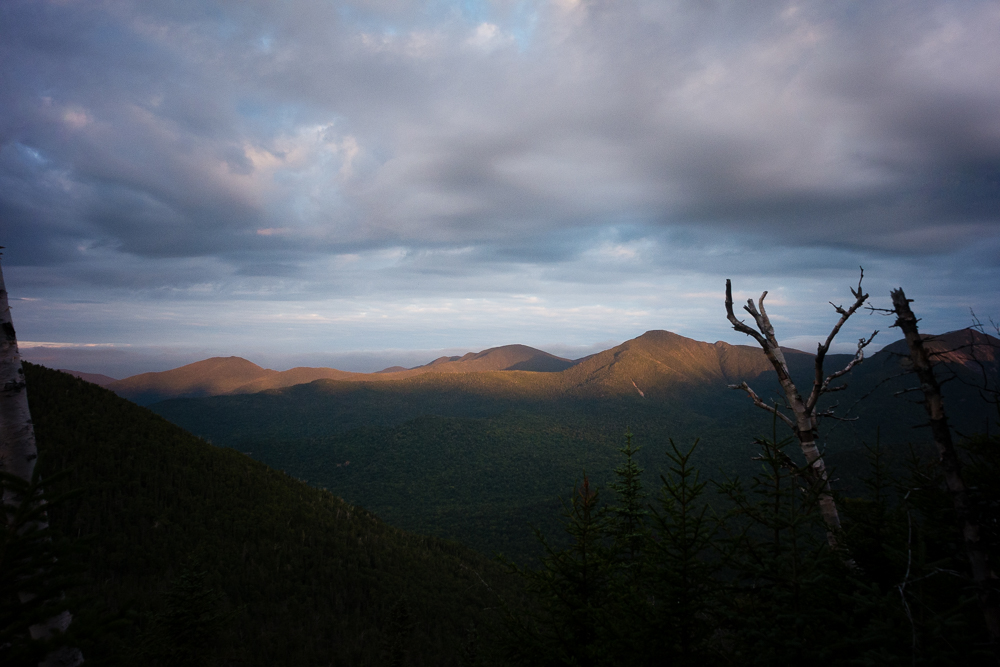 Early morning light on Mount Haystack (center right) and Mount Skylight (center), Adirondack Park, New York.
