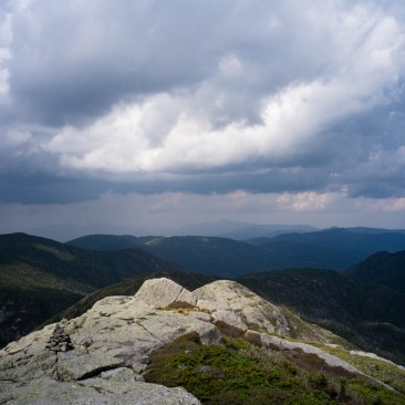 View north from Mount Haystack, Adirondack Park, New York.