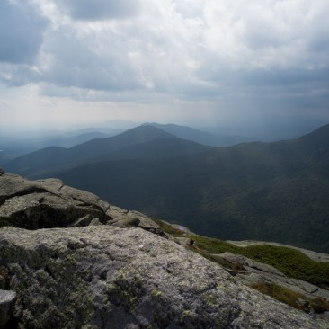 View of Allen Mountain from Mount Haystack, Adirondack Park, New York.