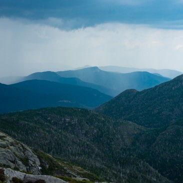 Storms over Big Slide from Haystack, Adirondack Park, New York.