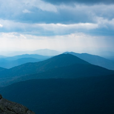 Storms approaching Mount Haystack from the south, Adirondack Park, New York.