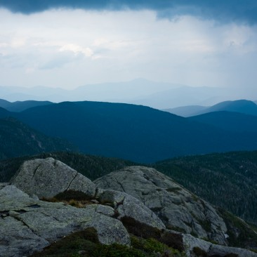 View towards Whiteface Mountain from Mount Haystack, Adirondack Park, New York.