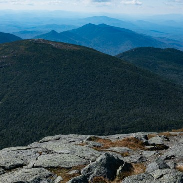View over Mount Skylight from Mount Marcy, Adirondack Park New York.