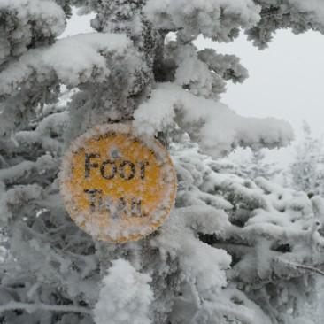 Blowing snow on Rocky Peak Ridge