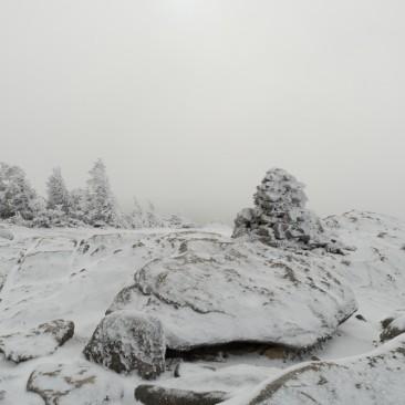 Clouds engulf Rocky Peak Ridge