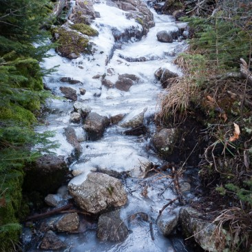 Icy section of Elk Pass