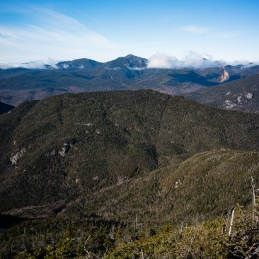 View over Mount Colvin to Mounts Marcy, Skylight, and Haystack from Nippletop