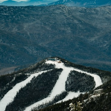 The ski trails on Whiteface Mountain