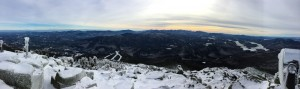 Panoramic view from Whiteface Mountain