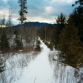 View of the long lead-in to Allen Mountain