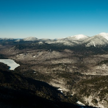 Upper Ausable Lake & the Upper Great Range from Mt. Colvin