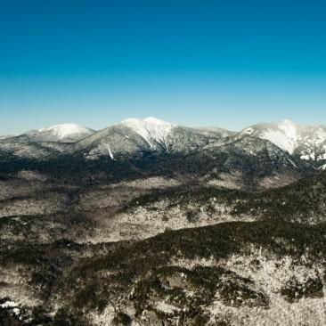 Upper Great Range (L-R Skylight, Haystack, Marcy, Basin, Saddleback) from Mt. Colvin