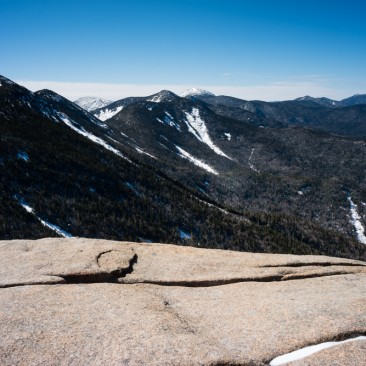 The Upper Great Range, Mt. Colden, and the Macintyres (L-R) from Armstrong