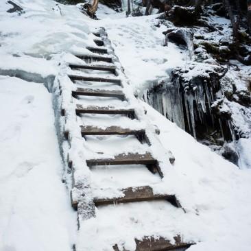 Ladder between Armstrong & Upper WolfJaw
