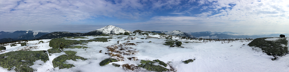 Panoramic view from the summit of Mount Skylight, northward towards Mt. Marcy
