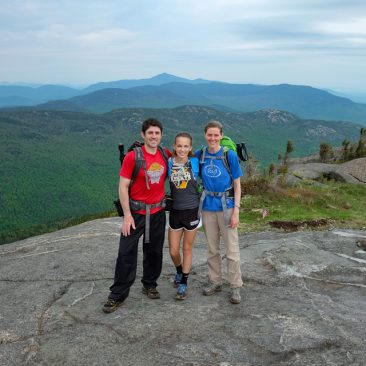 On Cascade (Whiteface Mountain back center)
