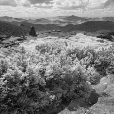 Sewards from Wright Peak (infrared)