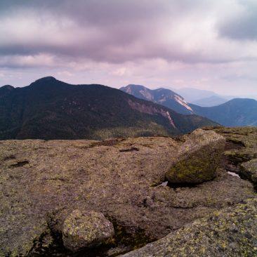 Basin Mt. looms in front of Haystack